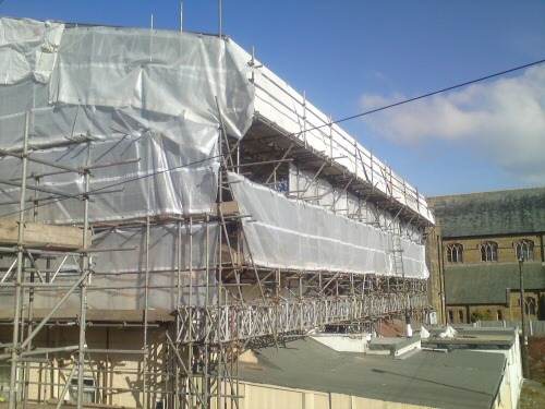 Apex Scaffolding Temporary Roofs Roofing North West