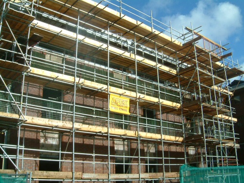 Scaffolding erected to North West based offices